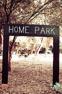 Home Park Sign