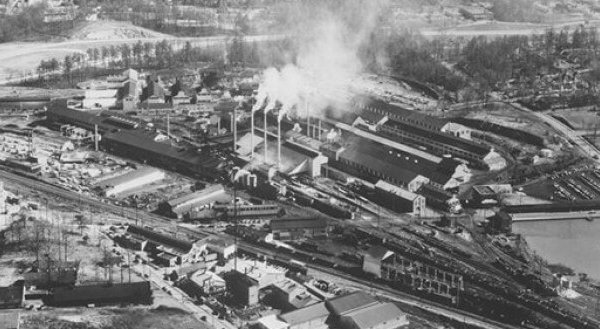 Aerial View of Atlantic Steel and Home Park